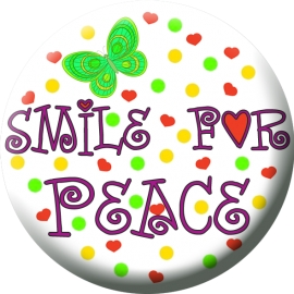 Button S (smile for peace)